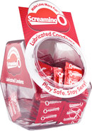 Screaming O Lubricated Condoms 144 Each Per Bowl Display